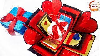 How to make Explosion box/ DIY Valentine's Day Explosion Box /Explosion Box Tutorial /Love Gift Idea