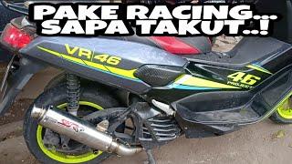 TES SUARA MEGAPON BULAT MUFFLER RACING BUATAN SKR RACING EXHAUST DI MOTOR METIK YAMAHA N-MAX