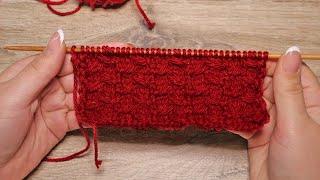 «Плавники» узор спицами | «Fish fins» knitting pattern
