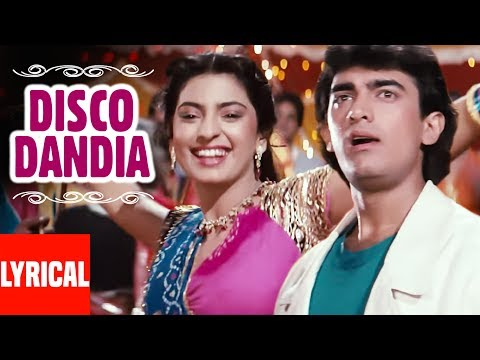 Disco Dandia Lyrical Video | Love Love Love | Vijay Benedict, Alisha Chinai | Amir Khan, Juhi Chawla