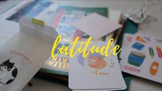 18. Latitude. Happy mail + a little jwm traveler's notebook