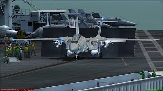 FSX F-14 Tomcat Carrier Ops near San Diego [AWESOME REALISM+GRAPHICS]