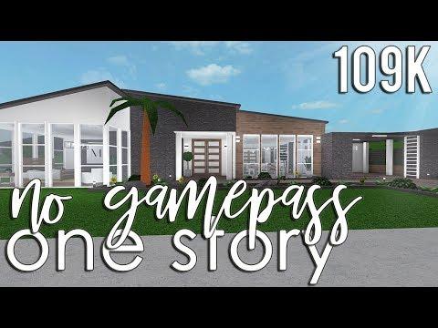 Roblox Bloxburg No Gamepass One Story 109k Youtube