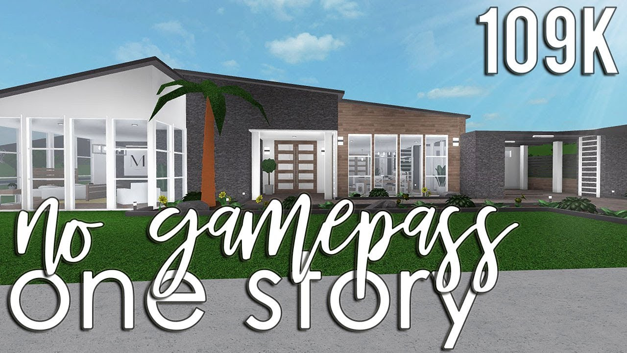 Roblox bloxburg no gamepass one story 109k
