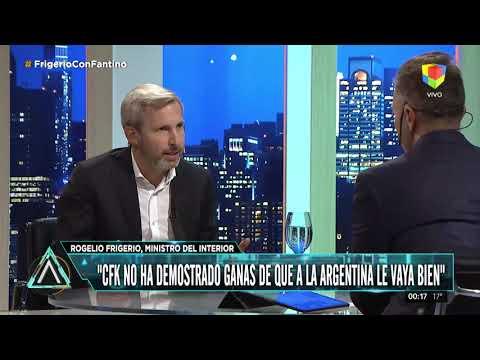 Rogelio Frigerio: Cristina no ha demostrado ganas de que a la Argentina le vaya bien