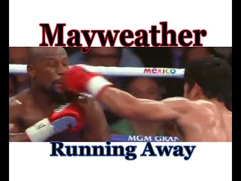 Floyd Mayweather - Running away and Grappling (Manny Pacquiao) 2015 Highlights HD