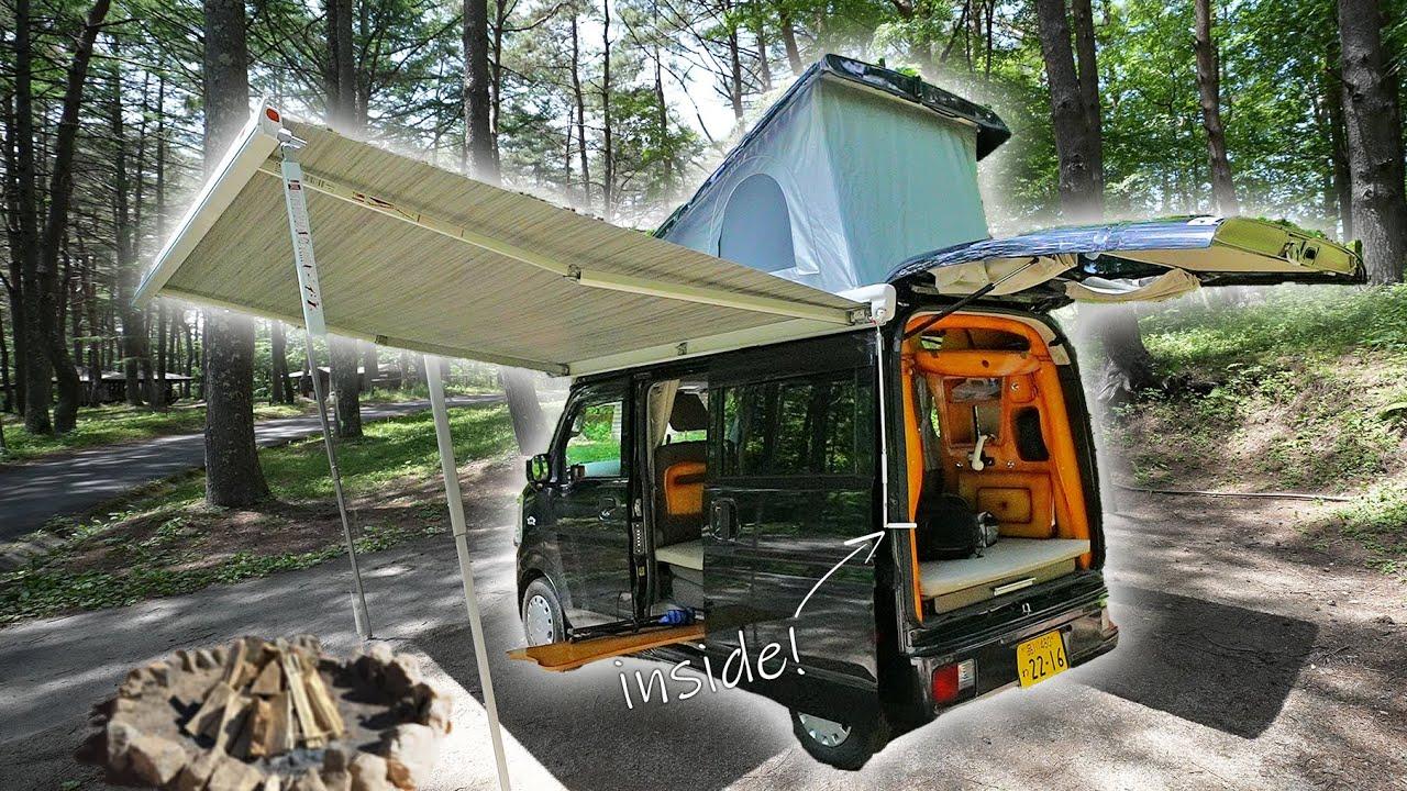 Inside a Tiny Japanese Camper Van - Kei Wagon Tour!