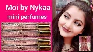 Moi By Nykaa Travel Spray Perfume Bisous & Raison D'Etre review |affordable mini perfume | RARA |