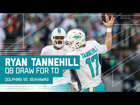 Ryan Tannehill Pulls off QB Draw for the 4th Quarter TD! | Dolphins vs. Seahawks | NFL