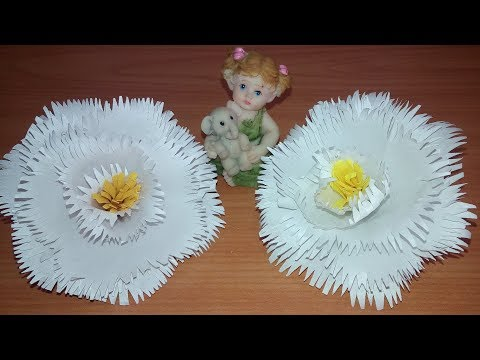 Paper Rose | Easy Paper Flowers | DIY | White Flowers | Handmade Flowers | Paper Flowers | Tutorial