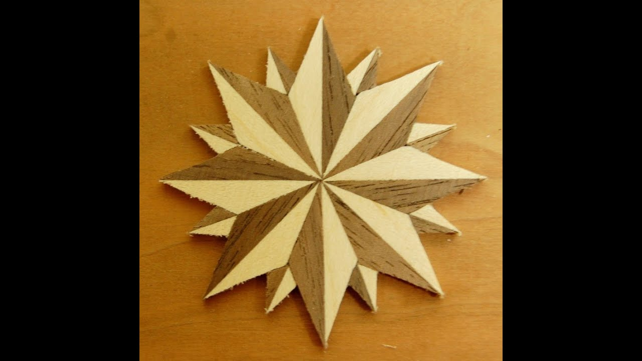 Compass rose woodworking how to project
