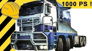 TRACTOMAS - 1000 PS TRUCK MONSTER & ROAD TRAIN IM DETAIL!