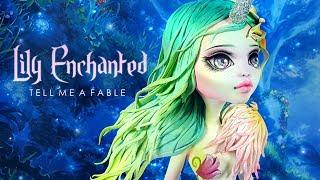 Doll Repaint Dry Molding Clay Monster High (Lagoona Blue) LILY ENCHANTED Unicorn Custom Doll OOAK