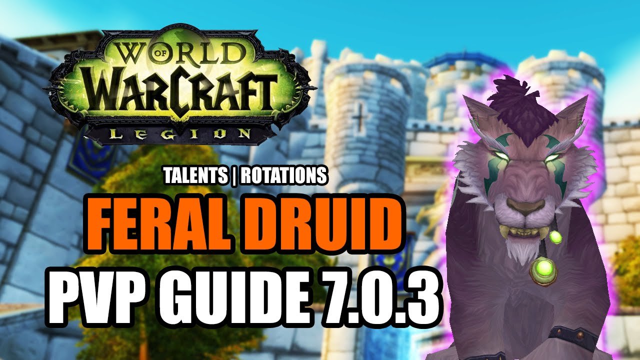 Wow Legion 7 0 3 Feral Druid Pvp Guide Talents Rotations How To Do Damage World Of Warcraft Youtube