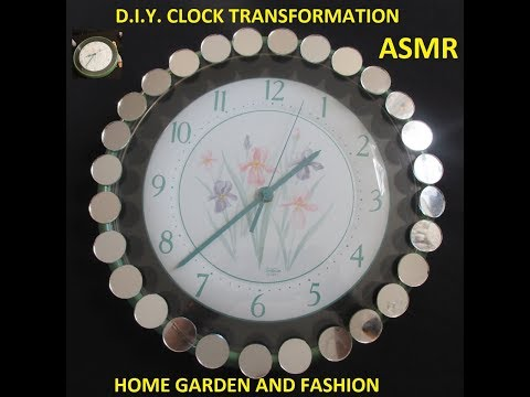 D.I.Y. MIRRORED CLOCK| WALL DECOR| ASMR NATURALLY|HOME GARDEN AND FASHION