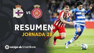 Resumen de RC Deportivo vs Girona FC (2-2)