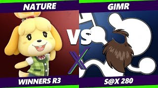 Smash Ultimate Tournament - Nature (Mii Swordfighter, Isabelle) Vs VGBC | GimR (G&W)  S@X 280 SSBU