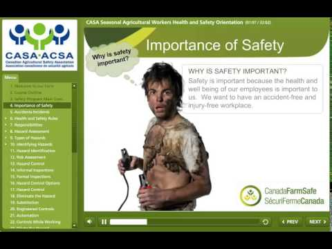 Seasonal Agricultural Workers Health and Safety Orientation - YouTube