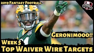2019 Fantasy Football Rankings - Week 5 Top Waiver Wire Players To Target