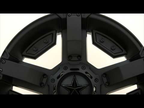 XD Series Rockstar II XD811 Matte Black Wheels Rims 22x9.5