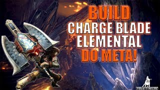 Monster Hunter World - BUILD CHARGE BLADE KJÁRR GELO ELEMENTAL DO META!