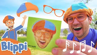 Hats and Glasses Song | BRAND NEW BLIPPI SONG | Educational Songs For Kids