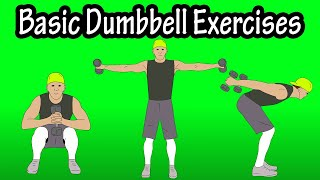 Basic Introductory Dumbbell Exercises For Beginners