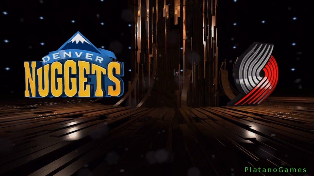 NBA Denver Nuggets vs Portland Trail Blazers - 1st Qrt - NBA Live 14 PS4 -  HD - YouTube