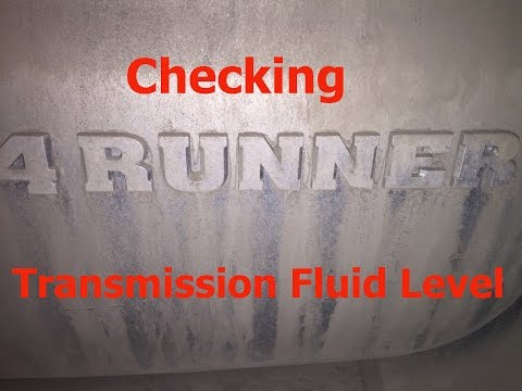 How To Check Toyota 4Runner 5 spd Automatic Transmission Fluid Level