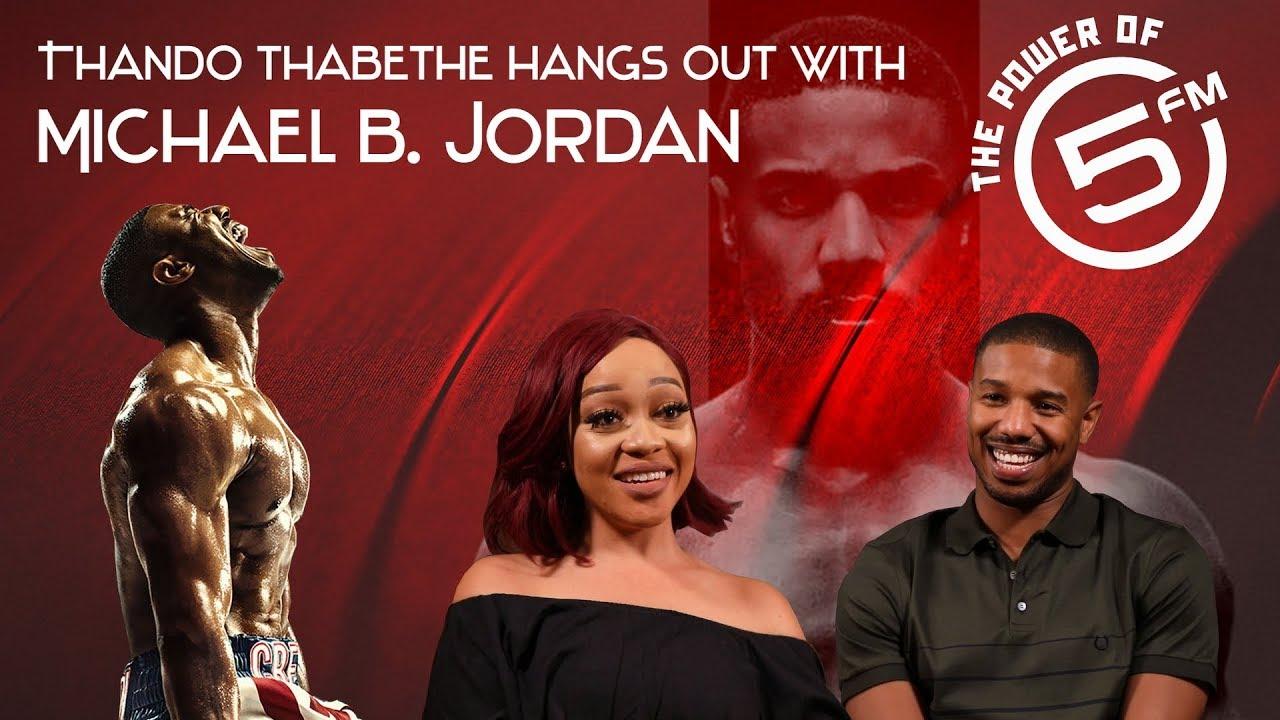 83ae38bca815d0 Thando Thabethe interviews Michael B. Jordan