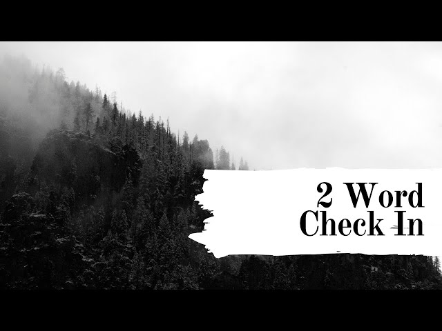 Grace Quickies: The Inner 2 Word Check In