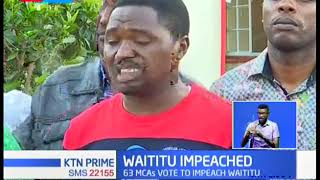 MCAs allied to Waititu vow\'s to challenge the impeachment in court