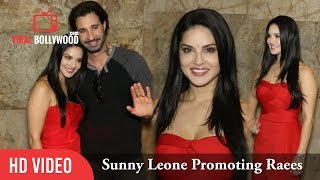 Sunny leone spotted at lightbox promoting raees