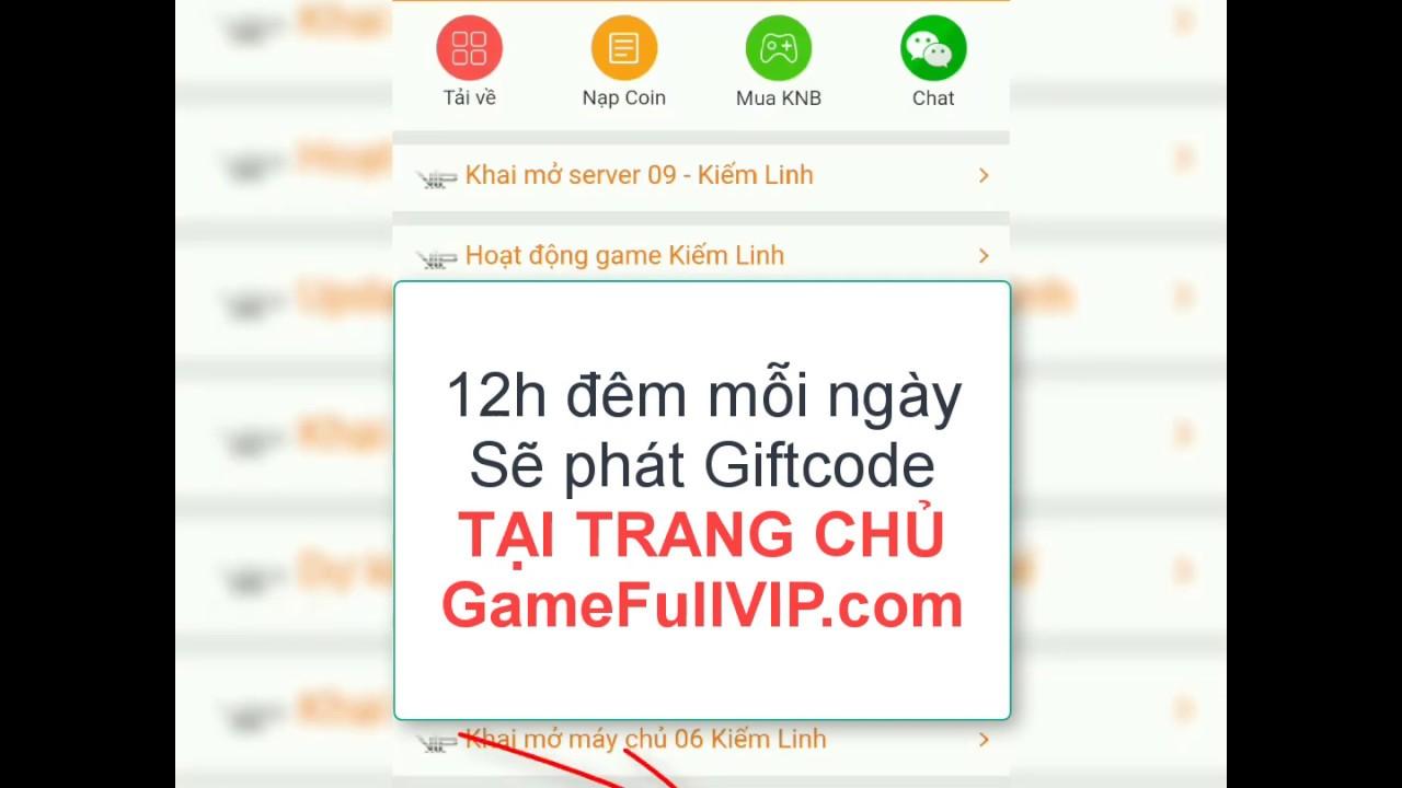 Hướng dẫn Nạp Giftcode miễn phí tại GameFullVIP.com