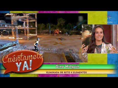 Gina Holguín es eliminada | Reto 4elementos | Cuéntamelo YA!