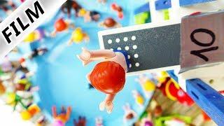 Playmobil Film Deutsch SPRUNG-TURNIER IM WASSERPARK! JULIAN SPRINGT VON 10m TURM! Familie Vogel