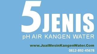 5 Jenis pH Air Kangen Water