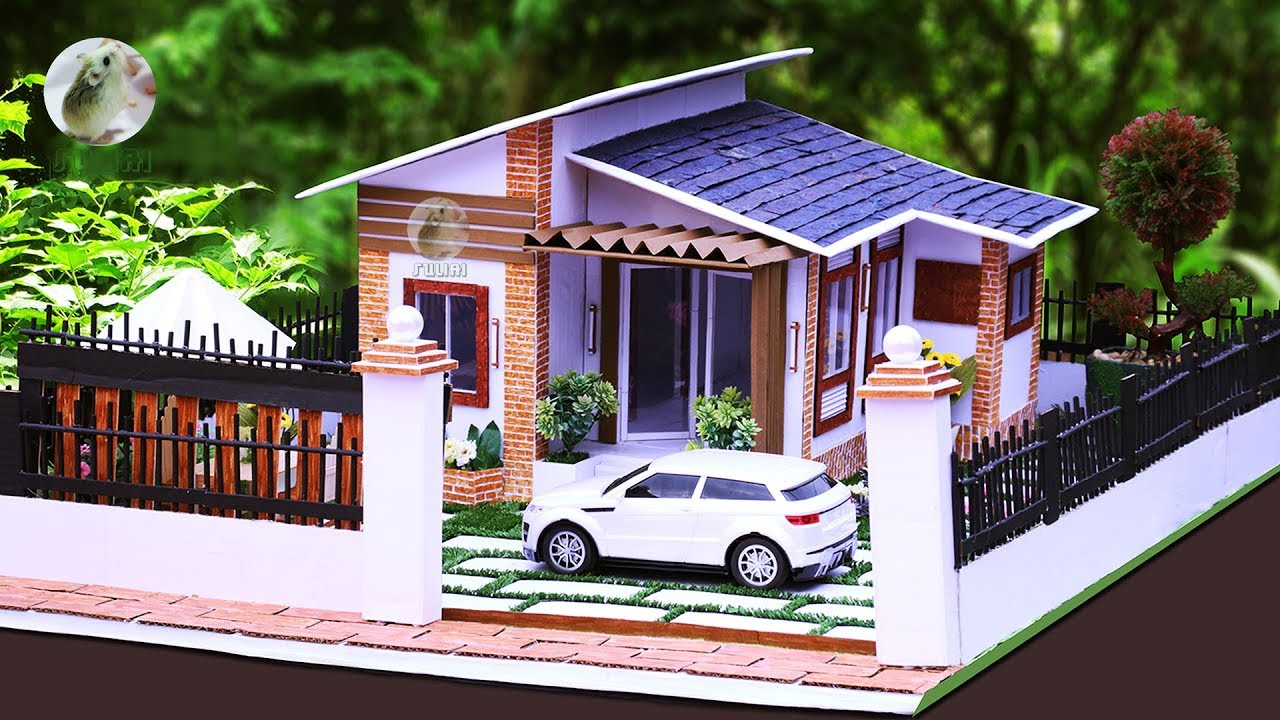 Making A Dream House From Cardboard As DIY Project