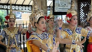 Traditional Thai Dance Performed For Brahma God @ Erawan Shrine - Bangkok Trip Part 19