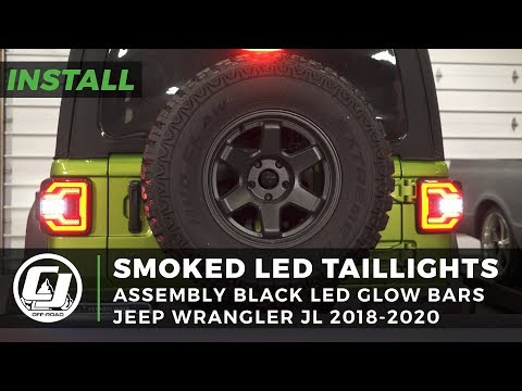Jeep JL Wrangler Install | Smoked LED Taillights With LED Glow Bars