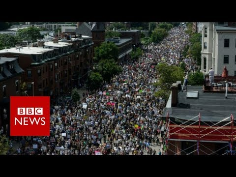 Boston demonstrations: How the day unfolded. - BBC News
