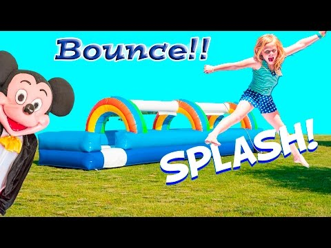 ASSISTANT Inflateable Water Bounce House Compilation Video with Mickey Mouse