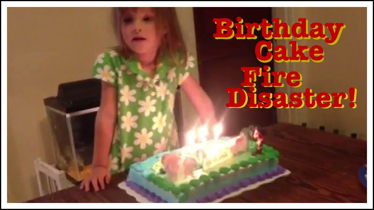 BIRTHDAY CAKE CATCHES 3 YEAR OLD GIRLS HAIR ON FIRE
