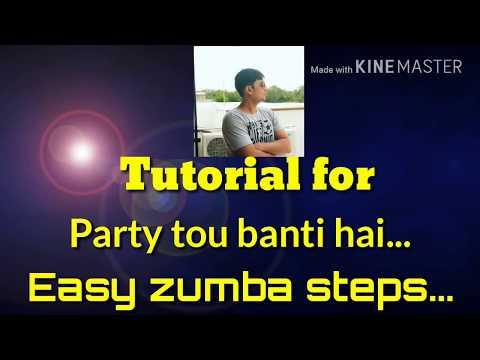 Easy Zumba steps |Zumba for beginners| party tou banti hai