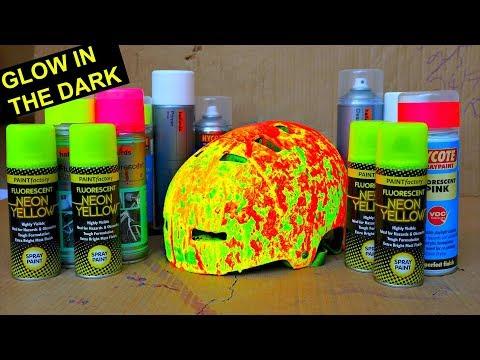 CRAZIEST RAINBOW PAINT SPLATTER CUSTOM HELMET DIY!!!