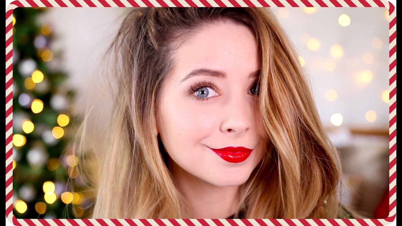 Festive Makeup Look | Zoella - YouTube