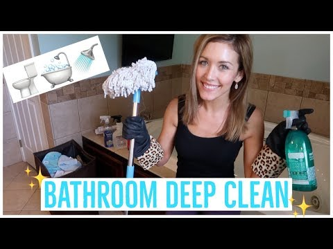 BATHROOM DEEP CLEAN ROUTINE 🚽🛁🚿 | HOW TO CLEAN YOUR SHOWER AND TUB | CLEANING MOTIVATION | Brianna K