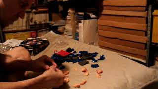 Me Solving the Superman, 3D Bust Puzzle, By Happy Well