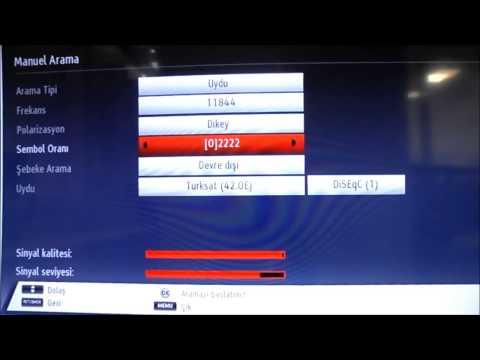 Vestel Smart TV Türksat 4A Kanal Güncelleme Kanal Ayarlama Kanal Kurulum Anlatımı HD