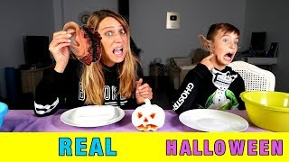 REAL VS HALLOWEEN EXTREMO